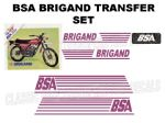 BSA Brigand Transfer Decal Set DBSA22 Purple